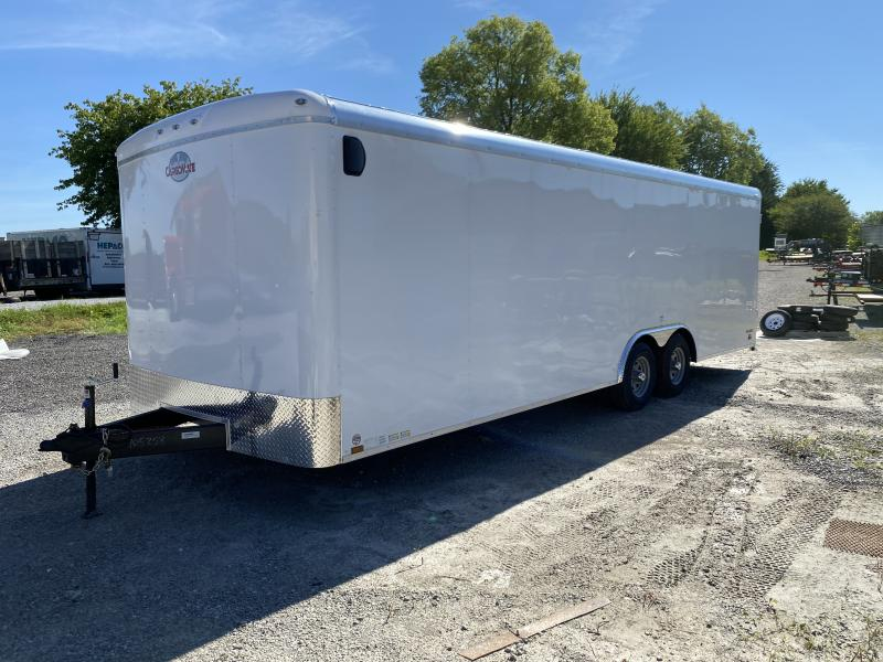 2021 Cargo Mate 102x24 TA BL824TA3 Enclosed Cargo Trailer - Ramp Door -Side Door - Torsion Axles - 102 Wide Body Design (GVW:  9800)