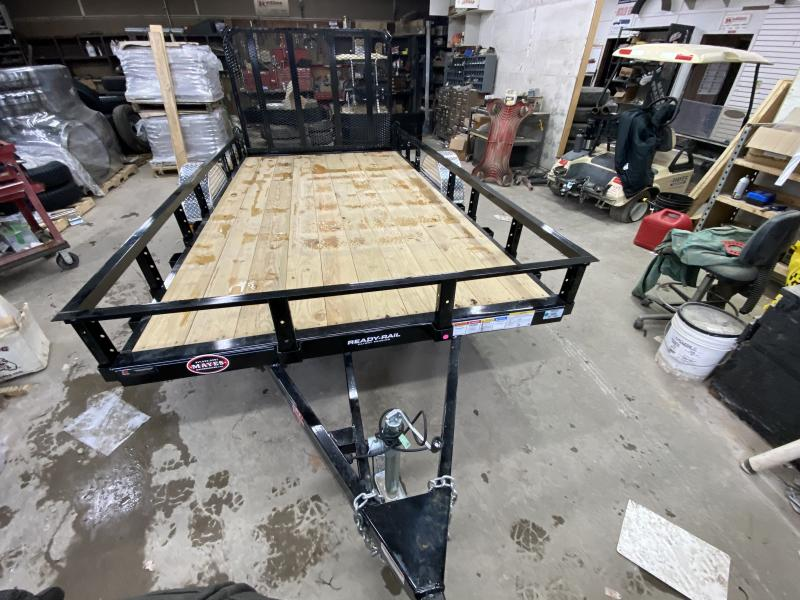 2021 PJ Trailers U7121 Utility Trailer - 77x12 SA - Straight Deck - Fold In Gate - Treated Wood Floor (GVW:  2995)
