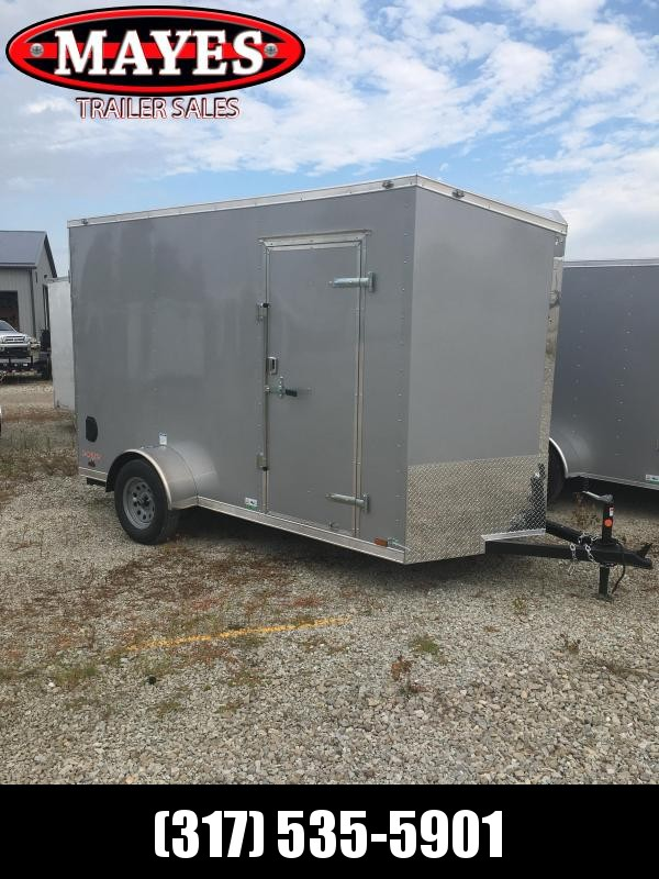 2021 Cargo Mate EHW612SA Enclosed Cargo Trailer - 6x12 SA - Side by Side Package - 12 Inch Additional Height - Slant V-Nose - Ramp Door (GVW:  2990)