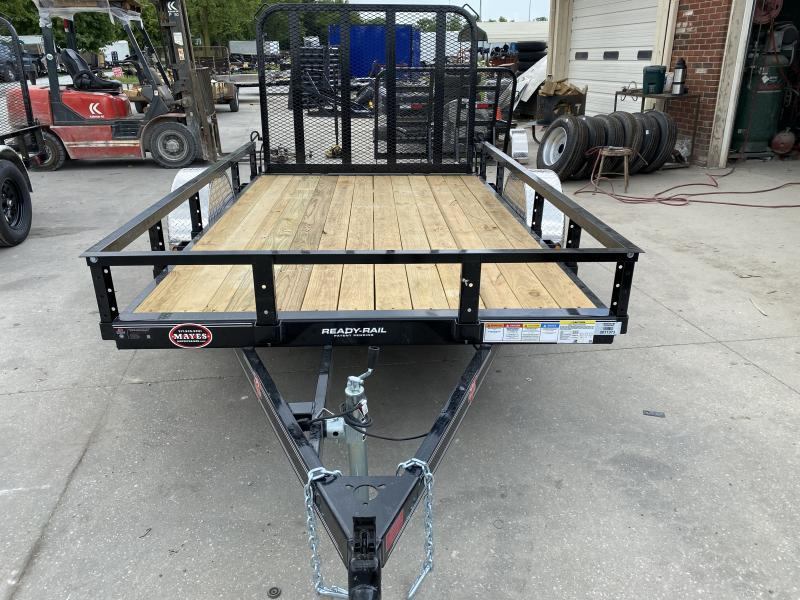 2021 72x10 PJ Trailers U2 Sngl Axle Channel Utility Trailer - w/ 4' Fold-in Gate (GVW: 2995)