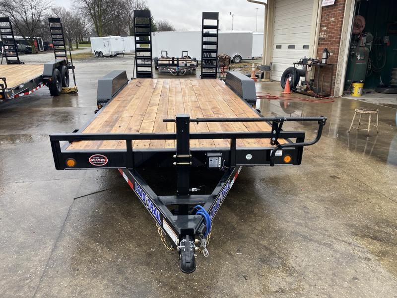 2021 Load Trail XH8318072 Car / Racing Trailer - 83X18 (16+2) TA - Fold Up Ramps - 6 Inch Channel Frame - D-Riings (GVW:  14000)