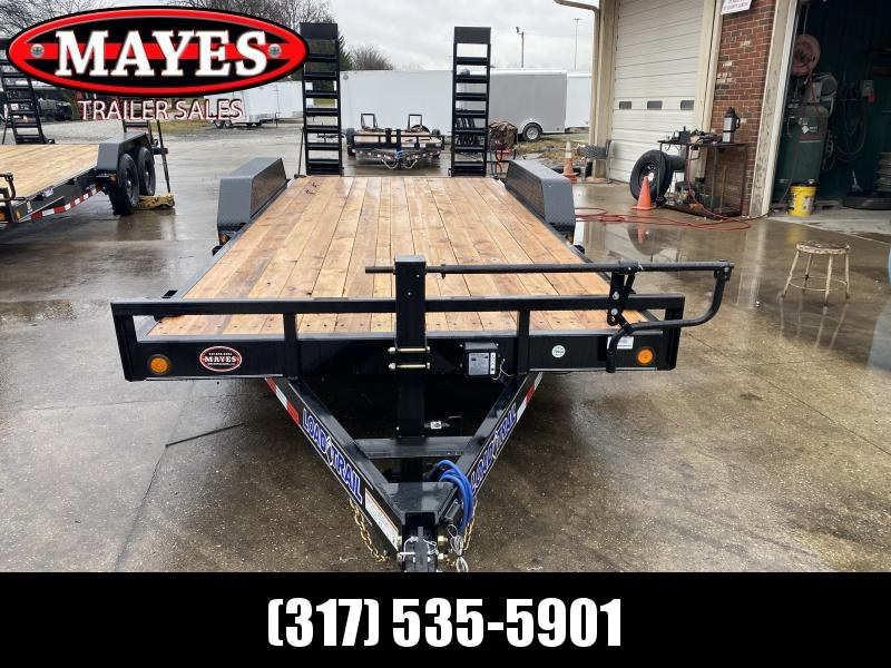 2021 Load Trail XH8318072 Equipment Trailer - 83X18 (16+2) TA - Fold Up Ramps - 6 Inch Channel Frame - D-Riings (GVW:  14000)
