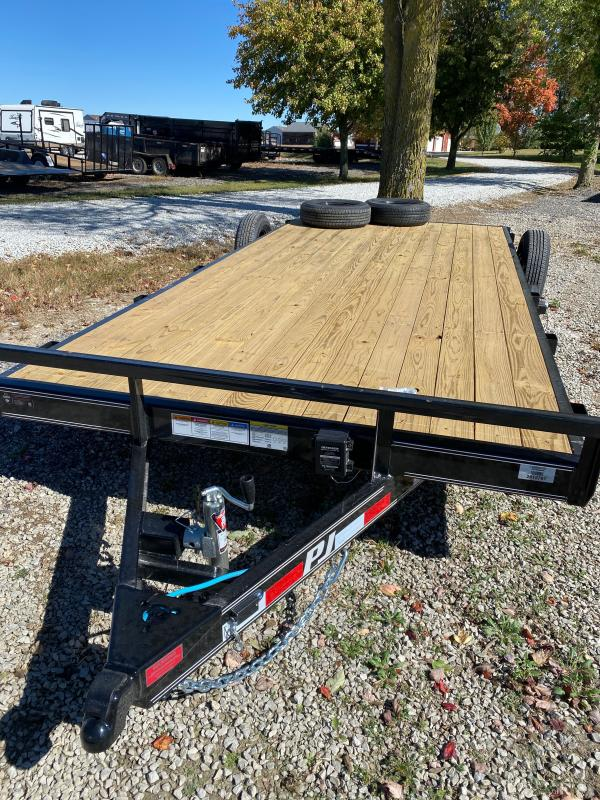 2021 PJ Trailers C5182 Car / Racing Trailer - 83x18 (16+2) TA - Dovetail - Slide In Ramps - 2 Inch Coupler (GVW:  7000)