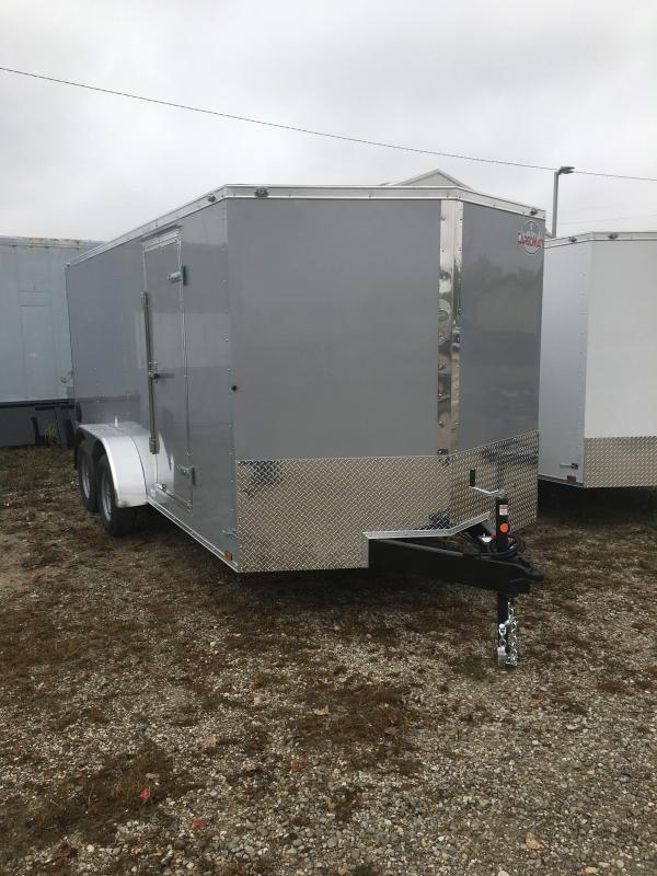 2021 Cargo Mate EHW716TA2 Enclosed Cargo Trailer - 7x16 TA - E&V Pkg. 2 - Ramp Door - Side Door - Spring Suspension (GVW:  7000)