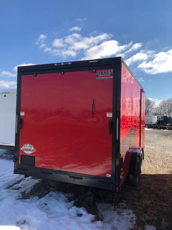 2021 Cargo Mate EHW716TA2 Enclosed Cargo Trailer - 7.5x16 TA - Ramp Door - 12 Inch Additional Height - Side by Side Pkg. - Black Out Pkg. - 7.5 Wide Body Design (GVW:  7000)