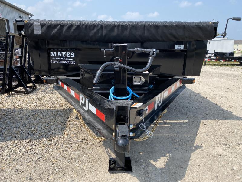 2022 PJ Trailers 1D192 (DL142) Dump Trailer - 83X14 TA Low Pro - Tarp Kit - Split/Spread Gate - Scissor Hoist (GVW:  14000)