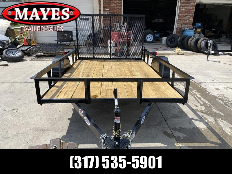 """2021 American Manufacturing Operations (AMO) US101 Utility Trailer - 76x10 SAUT - Tailgate - 15"""" Tires and Wheels (GVW:  2990)"""