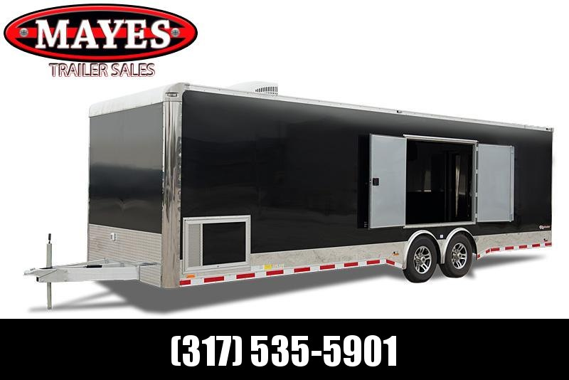 2022 Cargo Mate EL8516TA2 Car / Racing Trailer - 8.5x16 TA - 6 Inch Additional Height - HD Cage Package - 110V Package - Side Ramp Door - Rear Double Door - E-Tracking (GVW  7000)