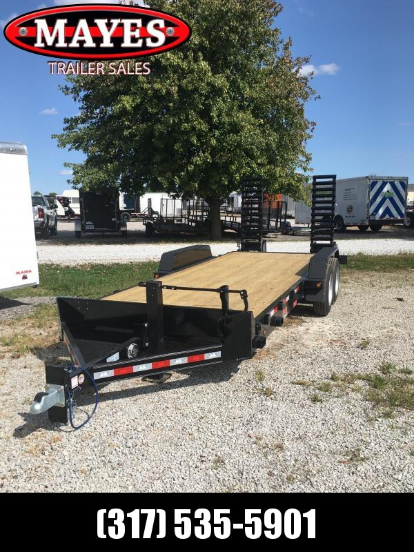 2021 B-B CBCT2016E-S Equipment Trailer - 83x20 (18+2) TA - 10 Inch Channel Frame - Dovetail - Pallet Fork Holder - D-Rings - Flip Up Ramps (Spring Assist) (GVW:  16000)