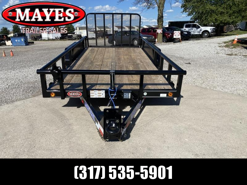 2022 Load Trail CS8316052 Car / Racing Trailer - 83X16 (14+2) TA - HD Fold Gate - Pintle - D-Rings - Spare Tire MOUNT ONLY (GVW:  9990)