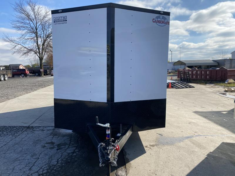 2021 Cargo Mate EHW716TA2 Enclosed Cargo Trailer - 7.5x16 TA - Two Tone - Ramp Door - D-Rings - Side by Side Pkg - Black Out Pkg - 12 Inch Additional Height (GVW:  7000)