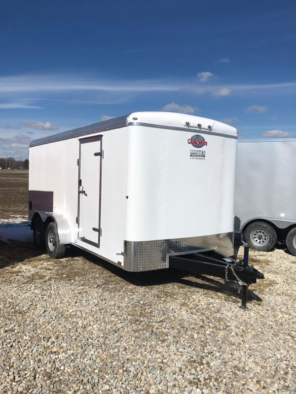 2021 Cargo Mate BL716TA3 Enclosed Cargo Trailer - 7x16 TA - Ramp Door - Torsion Axles - 54 Inch Ext. Triple Tube Tongue - E-Tracker Backer ONLY - Aluminum Roof (GVW:  9800)