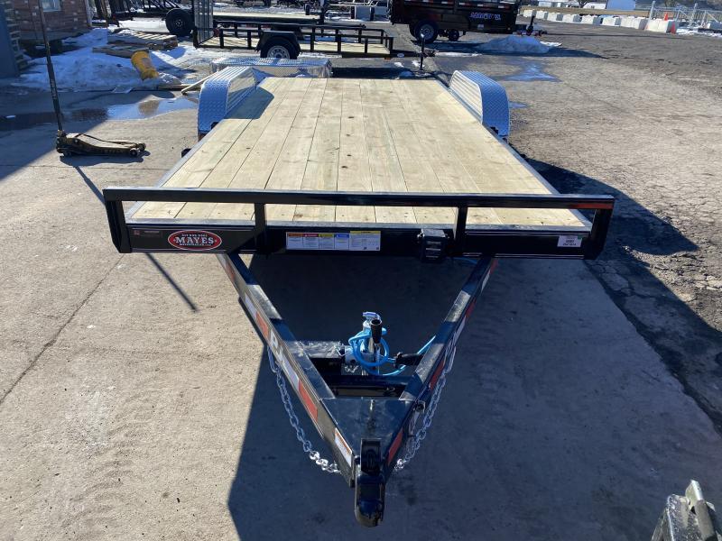 2021 PJ Trailers C5182 Car / Racing Trailer - 83x18 (16+2) TA - Dovetail - Rear Slide In Ramps - Treated Wood Floor (GVW:  7000)