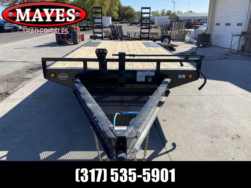 2021 PJ Trailers F8202 Equipment Trailer - 96x20 (17+3) TA - Dovetail - 8 Inch I-Beam Deckover - Fold Up Ramps (GVW:  14000)