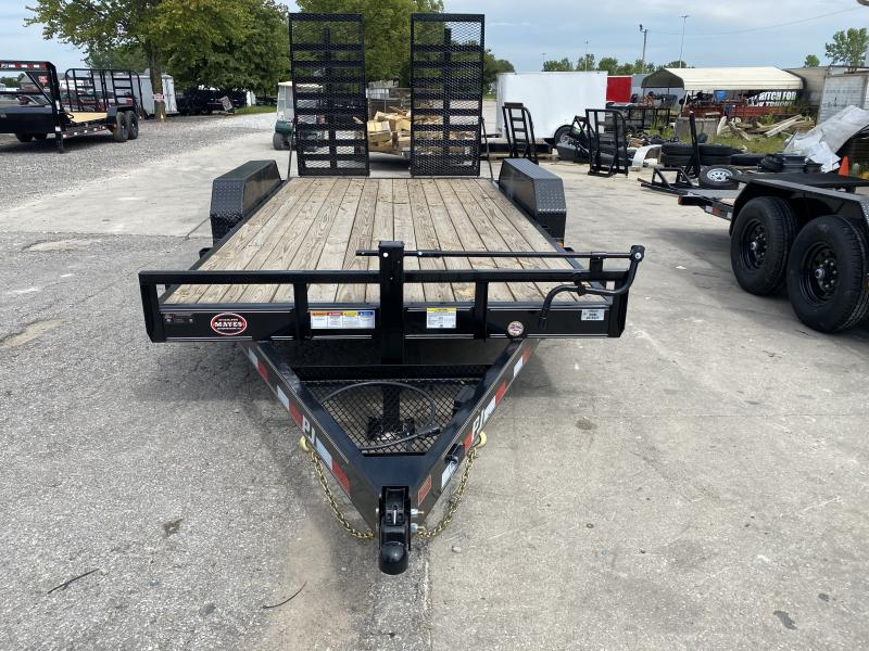 "2020 83x16(14' + 2' Dovetail) PJ Trailers CC 6"" Channel Equipment Trailer - w/ 31x66 HD Fold-up Ramps (GVW: 14000)"