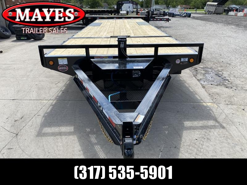 2021 96x28 PJ Trailers T8 Flatbed Tilt Trailer - (GVW: 14000)(Blackwood Pro Deck)(Hydraulic Jack)(Roller on Front)
