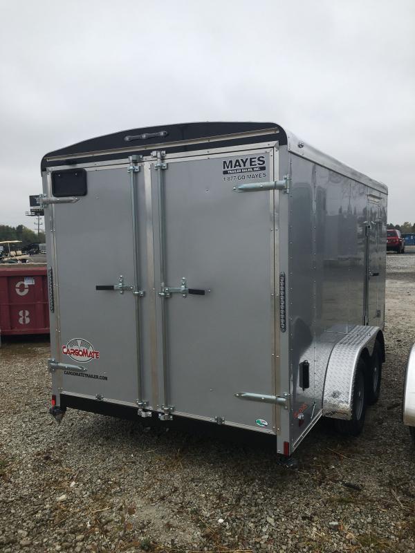 2021 Cargo Mate BL714TA2 Enclosed Cargo Trailer - 7x14 TA - Double Door with Dual Cambars - Torsion Axles - Aluminum Roof (GVW:  7000)