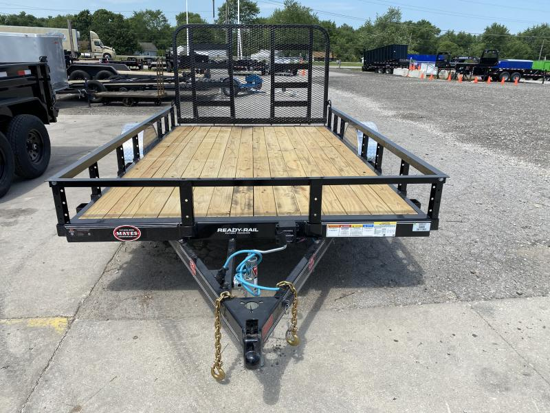 2021 83x12  PJ Trailers U8 Single Axle Channel Utility Trailer - w/ 4' Heavy Duty Fold-up Gate (GVW: 4995)