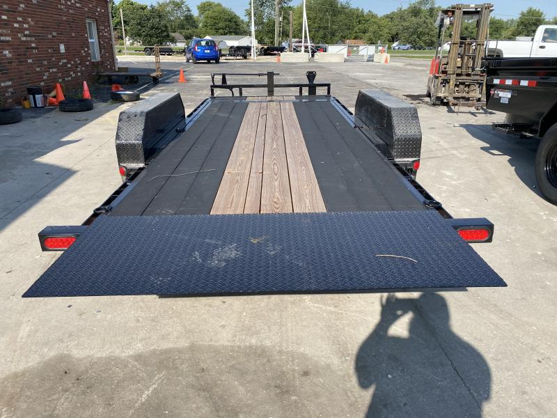 "2021 83x18(16' Tilt + 2' Stationary) PJ Trailers T6 6"" Channel Equipment Tilt Trailer - (GVW: 14000)(Blackwood Pro Outer Deck ONLY)"