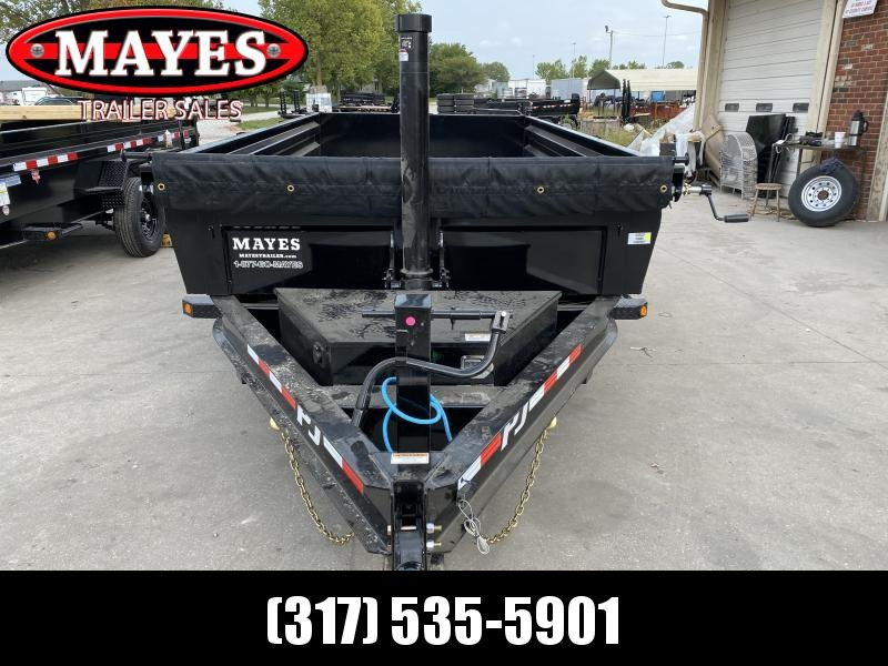 2021 PJ Trailers DT142 Dump Trailer - 83x14 TA Telescopic Dump - Tarp Kit - Split/Spread Gate - Ramps (GVW:  14000)