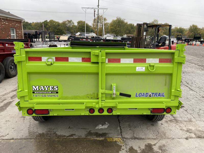 2021 Load Trail DT7212052 Dump Trailer - 72x12 TA - 24 Inch Dump Sides - 2 Way Gate - Slide In Ramps - D-Rings - Scissor Hoist - Tarp Kit - Spare Tire MOUNT ONLY (GVW:  9990)