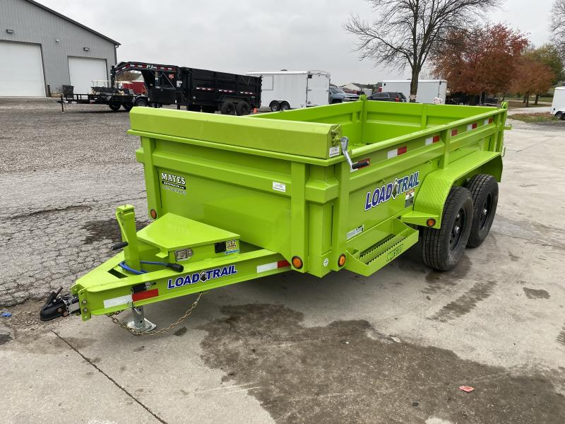 2021 Load Trail DT7212052 Dump Trailer - 72x12 TA - 24 Inch Dump Sides - 2 Way Gate - Slide In Ramps - D-Rings - Scissor Hoist - Tarp Kit - Spare Tire MOUNT ONLY (GVW:  9990)