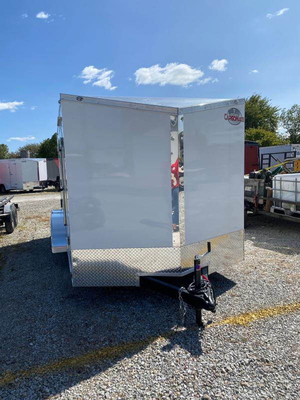 2021 Cargo Mate EHW714TA2 Enclosed Cargo Trailer - 7x14 TA - Ramp Door - Aluminum Roof Upgrade - Slant V-Nose (GVW: 7000)