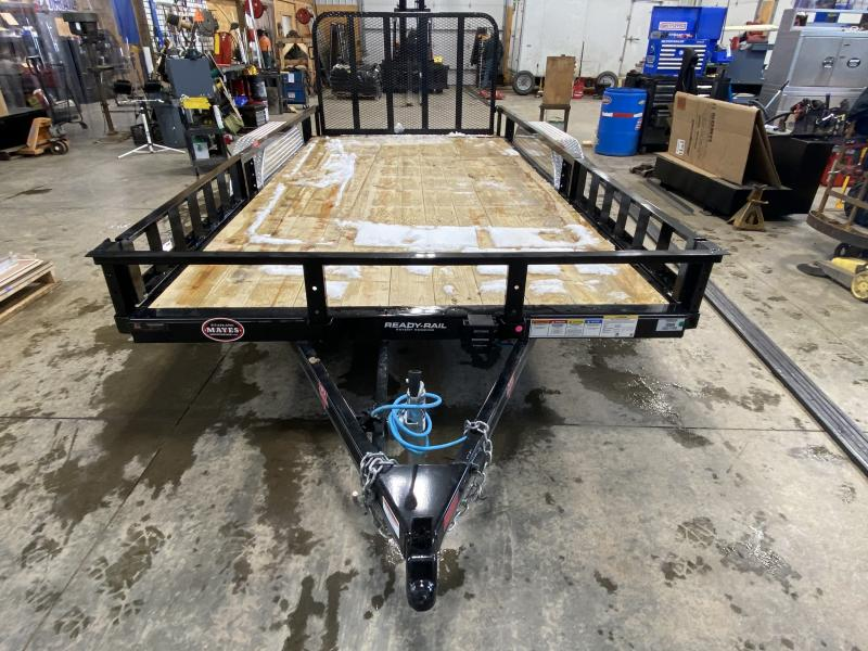 2021 PJ Trailers UL162 Utility Trailer - 83x16 (14+2) TA - Dovetail - Fold Up Gate - Treated Wood Floor (GVW:  7000)