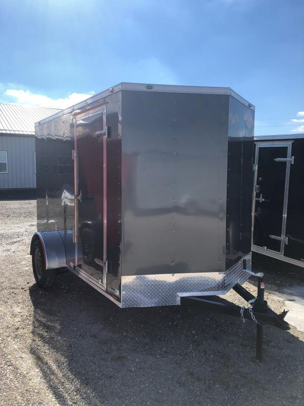 2021 Cargo Mate SSV610SA Enclosed Cargo Trailer - 6x10 SA - Ramp Door - 6 Inch Additional Height (GVW:  2990)