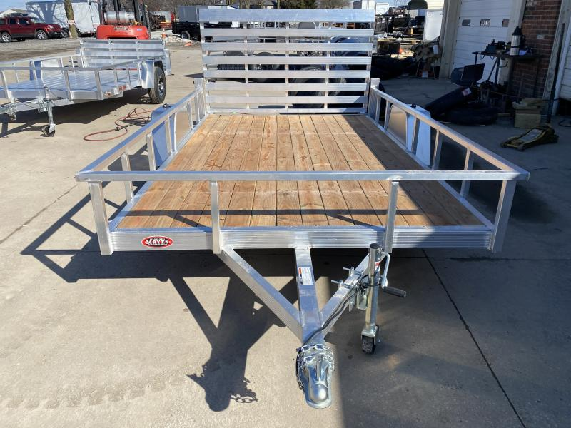 2021 Sport Haven AUT712 Utility Trailer - 7x12 SA - Standard Gate - Treated Wood Floor - 15 Inch Tires and Wheels (GVW:  2990)