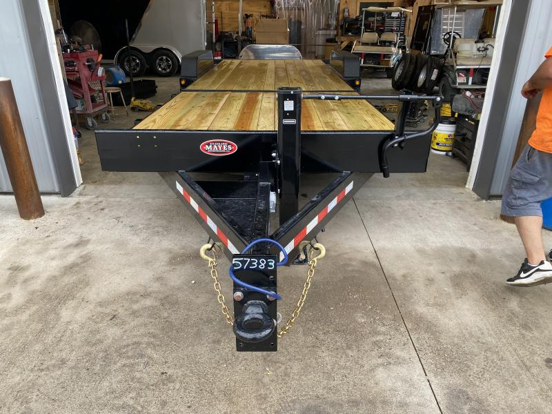 2022 B-B TBCT2420ET-10K Equipment Trailer - 83X24 (8+16) TA Tilt - Torsion Axles - Pallet Fork Holders - Fender Guides (GVW:  20000)