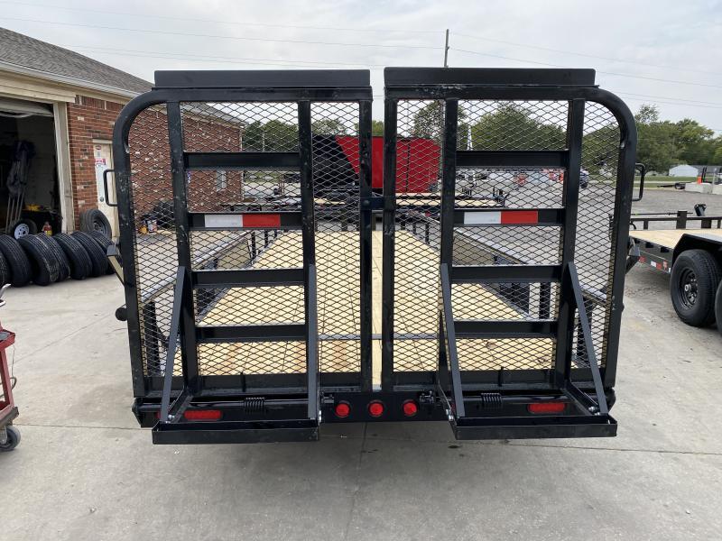 2021 PJ Trailers CC222 Equipment Trailer - 83x22(20+2) TA - Dovetail - Split Heavy Duty Gate - Spare Tire (GVW:  14000)