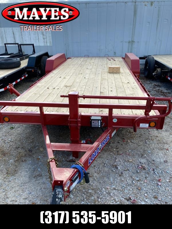 2021 Load Trail CH8320072 Equipment Trailer - 83x20 (18+2) TA - Fold Up Ramps - Rub Tail - Dovetail - Spare Tire (All tires with Aluminum Wheels - 10 Ply) (GVW:  14000)