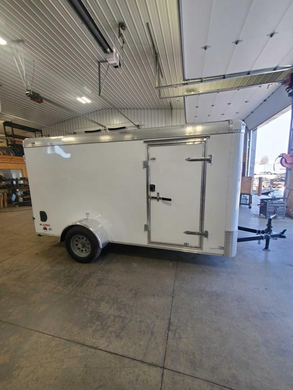 2021 Cargo Mate BL612SA Enclosed Cargo Trailer - 6x12 SA - Double Door with Dual Cambars - Side Door - Torsion Axle (GVW:  2990)