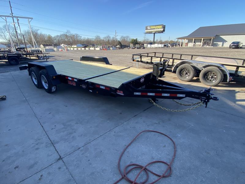 2021 B-B TBCT2020ET-10K Equipment Trailer - 83x20 (4+16) TA Tilt - Torsion Axles - Pallet Fork Holders - 12 Inch O/C Crossembers - Fender Guides (GVW:  20000)