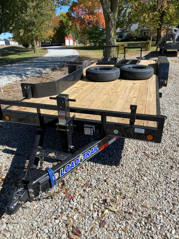 2021 Load Trail XH8320072 Car / Racing Trailer - 83X20 (18+2) TA - Fold Up Ramps - DP Removable Fenders - 10K Jack - D-Rings (GVW:  14000)