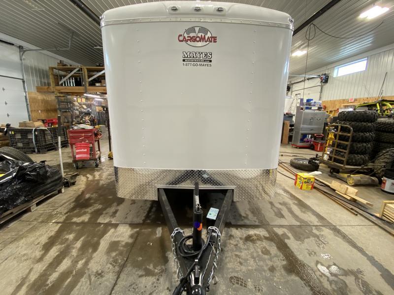 2021 Cargo Mate BL716TA2 Enclosed Cargo Trailer - 7x16 TA - Ramp Door - Torsion Axles - E-Track Backer ONLY - Aluminum Roof (GVW:  7000)