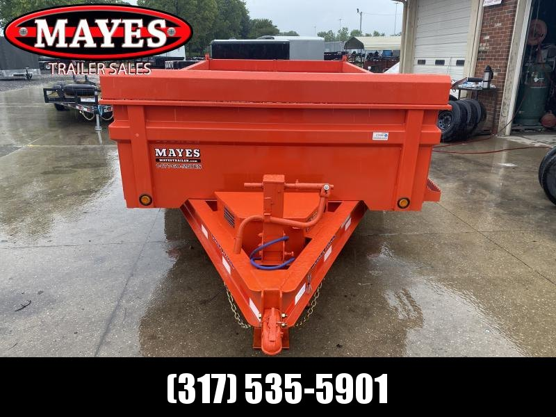 "2021 Load Trail DT8314072 Dump Trailer - 83x14 TA - 24"" Dump Sides with 3-Way Gate - Rear Slide In Ramps (Double Channel) - D-Rings - Toolbox - Scissor Hoist - Spare Tire MOUNT ONLY (GVW:  14000)"
