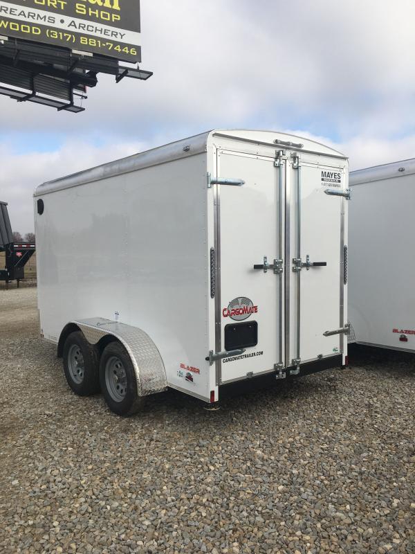 "2021 Cargo Mate BL612TA2 Enclosed Cargo Trailer - 6x12 TA - Double Door - Side Door - 54"" Extended Triple Tube Tongue - Torsion Axle (GVW: 7000)"