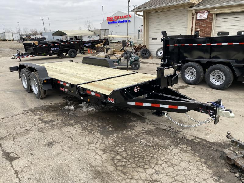 2021 B-B TBCT2016ET Equipment Trailer - 83x20 TA Partial Tilt - Torsion Axles - Pallet Fork Holders - 12 Inch O/C Crossmembers - Cushioned Cylinder (GVW:  16000)