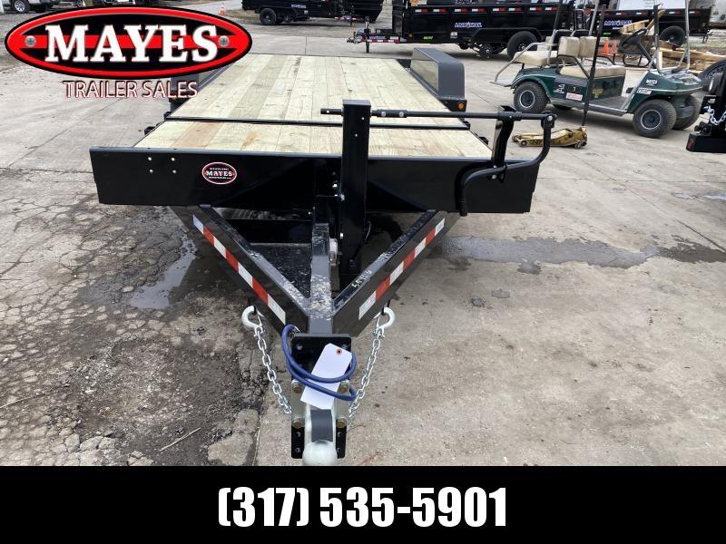 2021 B-B TBCT2016ET Equipment Trailer - 83x20 TA Partial Tilt - Torsion Axles - Pallet Fork Holders - 12 Inch O/C Crossmembers - Cushioned Cylinder (GVW:  16000)