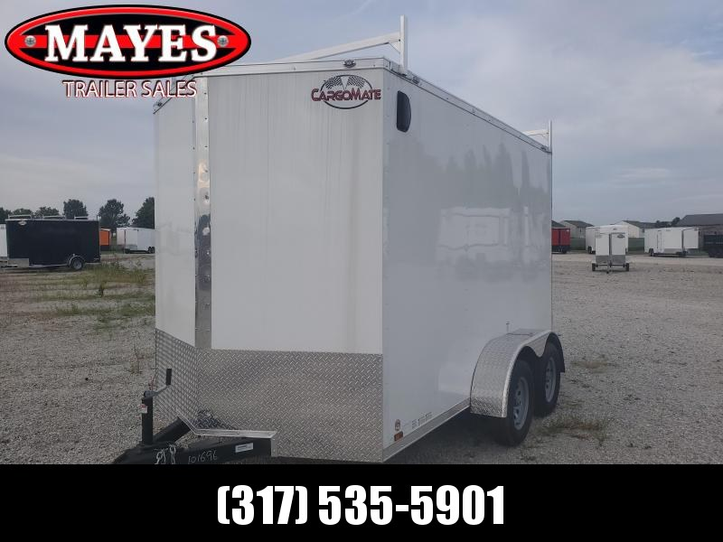 2021 Cargo Mate EHW612TA2 Enclosed Cargo Trailer - 6.5X12 TA - 6.5 Wide Body Design - Side By Side Package - Ladder Racks - Ramp Door - 6  Inch Additional Height (GVW:  7000)