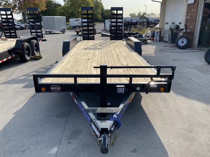 2021 Load Trail XH8320072 Car / Racing Trailer - 83x20 (18+2) TA - DP Fenders - Fold Up Ramps - Dovetail - D-Rings (GVW:  14000)