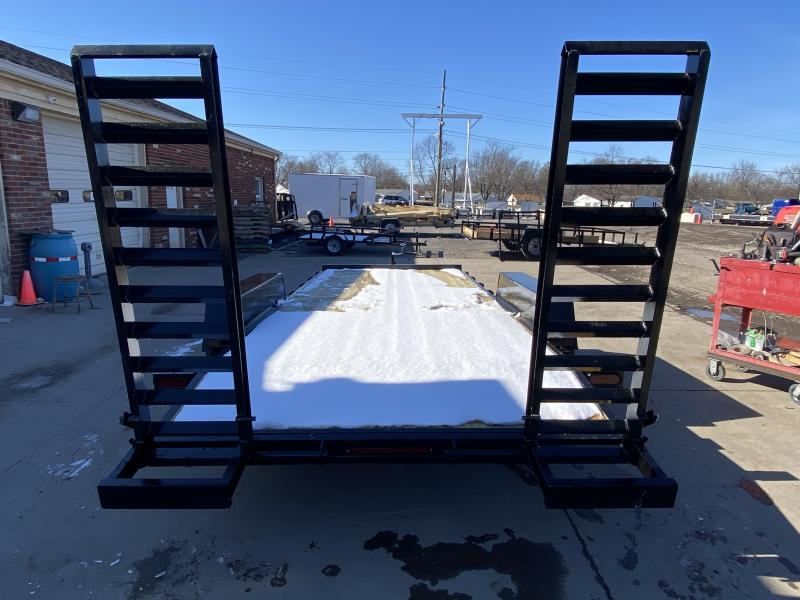 2021 American Manufacturing Operations (AMO) UC182 Equipment Trailer - 82x18 TA Equipment - Treated Wood Floor - Dovetail - Stand Up Ramps (GVW:  9990)