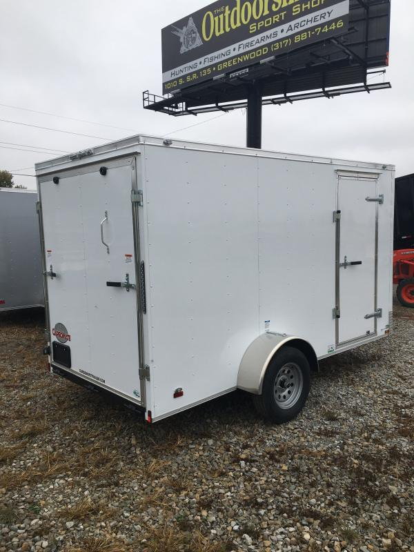 2021 Cargo Mate SSV612SA Enclosed Cargo Trailer - 6x12 SA - Ramp Door - 6 Inch Additional Height - Flat Front/6 Inch Front Bow (GVW:  2990)