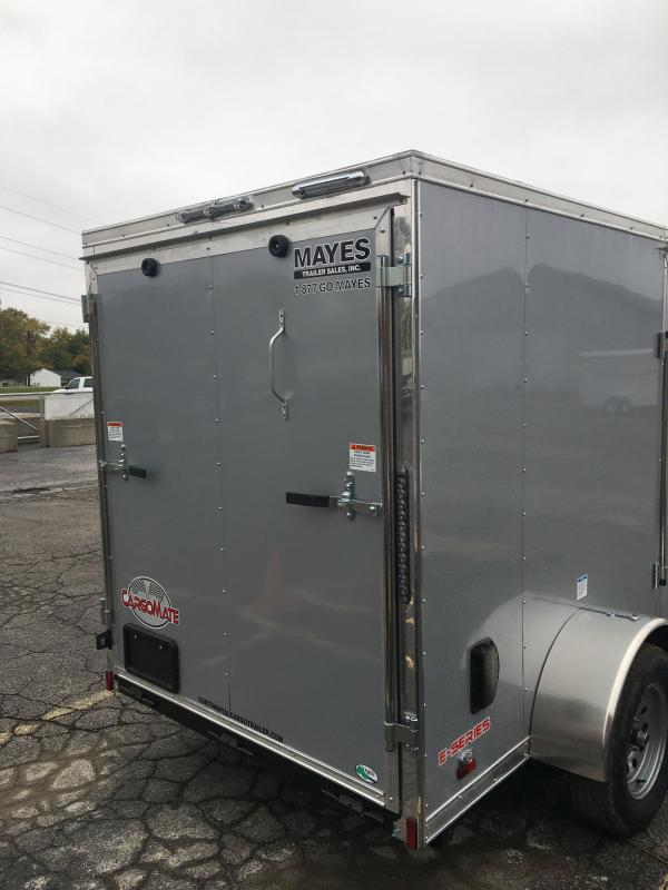 2021 Cargo Mate EHW510SA Enclosed Cargo Trailer - 5.5x10 SA - Side by Side Package - 12 Inch Additional Height - Ramp Door - 5.5 Wide Body Design (GVW:  2990)