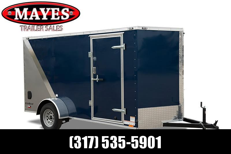 2022 Cargo Mate EHW612SA Enclosed Cargo Trailer - 6.5x12 SA - Ramp Door - RV Style Side Door - 12 Inch Additional Height - Side by Side Package - Black Out Package - D-Rings (GVW:  2990)