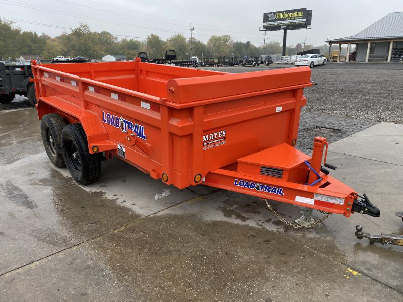 2021 Load Trail DT7212052 Dump Trailer - 72x12 TA - 24 Inch Dump Sides - 2 Way Gate - Scissor Hoist - Slide In Ramps - Tarp Kit - Spare Tire MOUNT ONLY (GVW:  9990)