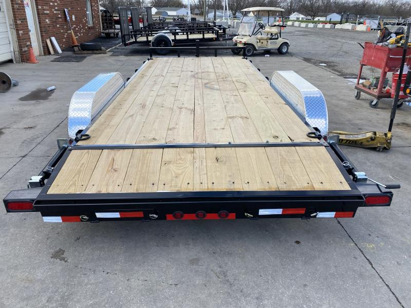 2021 Load Trail XH8318052 Car / Racing Trailer - 83x18 (16+2) TA - 5 Inch Channel - Slide In Ramps - Dovetail (GVW:  9990)