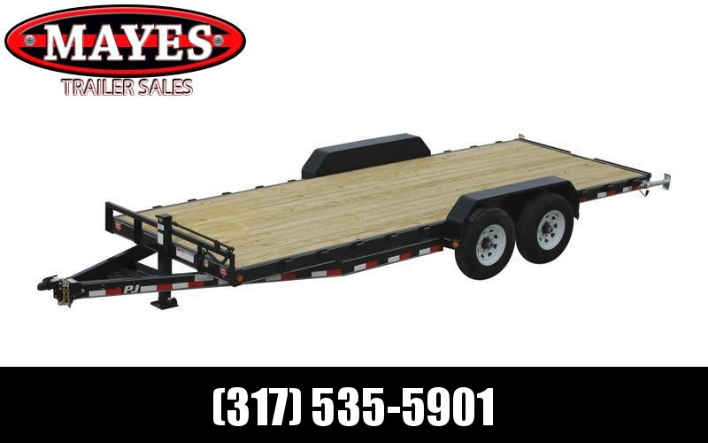 2022 PJ Trailers 1C232 (CC182) Equipment Trailer - 83x18 (16+2) TA - 6 Inch Channel Frame - Dovetail - Fold Up Ramps - Tool Box - Spare Tire and Wheel (GVW:  14000)